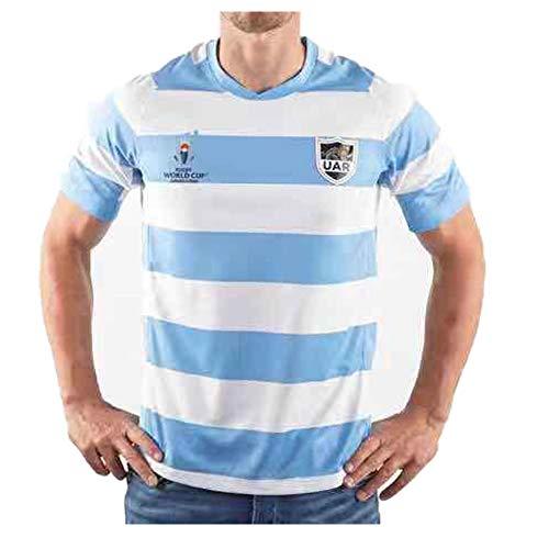 2019 Japan WM Fußball Trikot Argentinien Rugby Trikot Kurzarm Poloshirt Professionelles Shirt Stretch Schnelltrocknendes T-Shirt Outdoor Training Shirt Polo-M