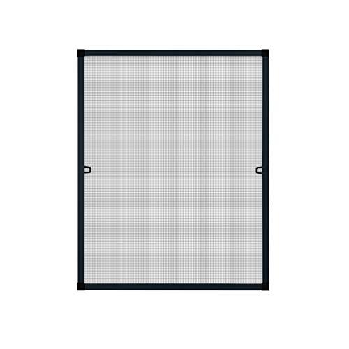 Fliegengitter Insektenschutz Fenster Alu Rahmen Bausatz 120 x 140 cm anthrazit