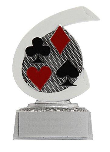 RaRu Poker/Skat-Pokal mit Wunschgravur und 3 Poker/Skat-Anstecknadeln.
