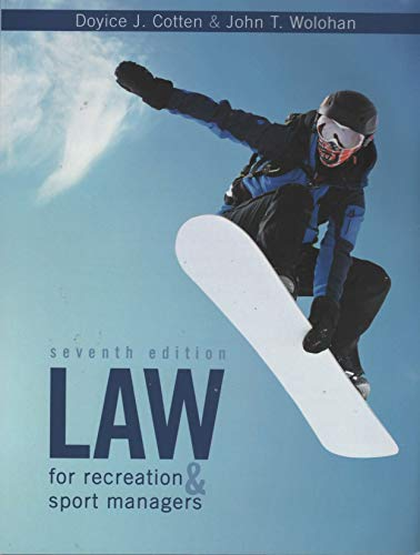 Law for Recreation and Sport Man...