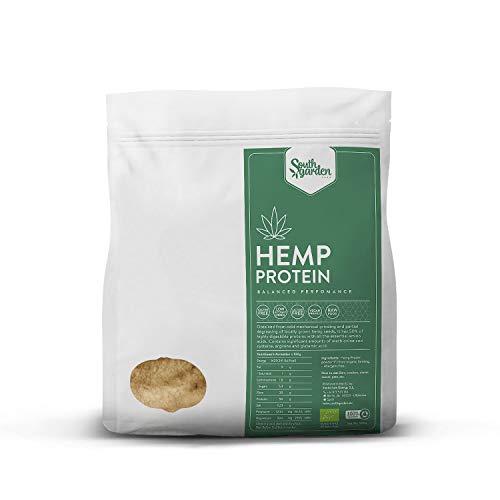South Garden Proteine di Canapa Vegane BIO 500g | 50% Proteine Vegetali in Polvere | Miscela perfetta di Proteine | Prodotto in Spagna | Vegano | Senza Glutine | Senza Lattosio | Senza Zucchero