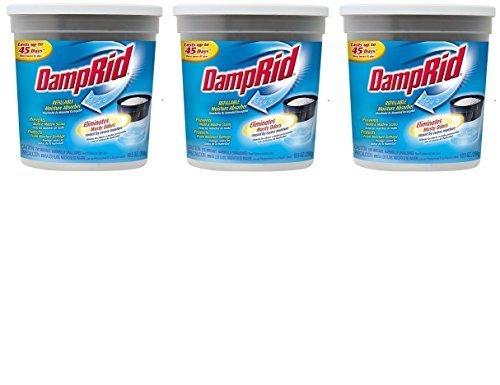 Damprid Fg01k Refillable Moisture Absorber, Fragrance Free, 10.5-ounce (3 Pack) by Damprid