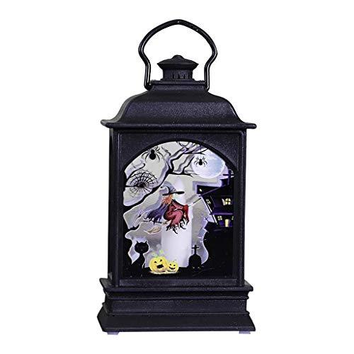 FBGood Kreative Halloween-Kamin-Laterne – Laterne Vintage dekorativ – LED-Laterne Halloween – schönes Design für Urlaub, robust und langlebig – Laternen für Halloween, A