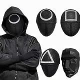 Máscara de Juego de Calamar de Hombre Enmascarado, Squid Game Boss Mask, 2021 TV Cosplay Masquerade Accesorios, Accesorios De Disfraces De Halloween Stock EN ESPAÑA. Cuadrado Brilla Oscuridad