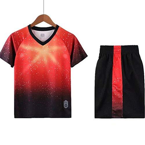 Kinderen Camouflage Voetbal pak pak Lente En Zomer Training Competitie Team Uniform Outdoor Sport Korte mouw Jersey