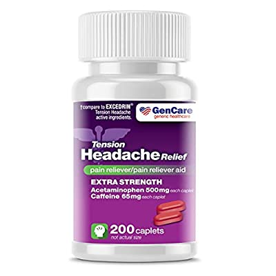 ✅ EXTRA STRENGTH RELIEF - Reach for GenCare extra strength Tension Headache Relief when suffering from mild to severe headaches, tension pain and muscle aches. Adults and children 12 and older take 2 caplets every 6 hours as needed with water. ✅ FULL...