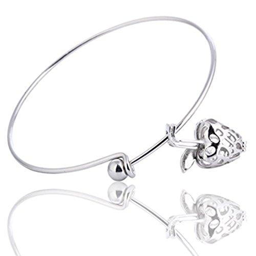 Rose gouden armband, zilveren armband, appel etherische olie Diffuser armband, Filigree Locket Diffuser, parfum armband