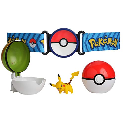 Pokémon Clip 'N' Go Poke Ball Belt Set, Comes With Poké Ball, Nest Ball and 2