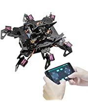 Adeept RaspClaws Hexapod Spider Robot Kit voor Raspberry Pi 4/3 Model B+/B, STEAM Crawling Robot, OpenCV Target Tracking, Video Transmissie, Raspberry Pi Robot met PDF Handleiding