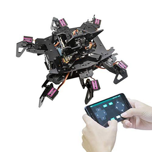 Adeept RaspClaws Hexapod Spider Robot Kit für Raspberry Pi 4/3 Modell B+/B, STEAM Crawling Robot, OpenCV-Zielverfolgung, Videoübertragung, Raspberry Pi Robot mit PDF-Handbuch
