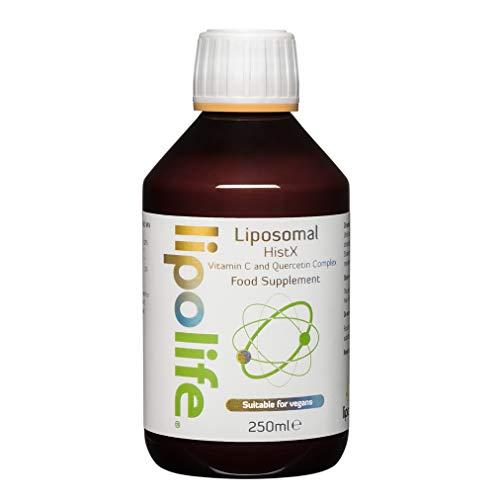 HistX - Liposomal Vitamin C (Quali-C) and Quercetin - 250ml - Lipolife