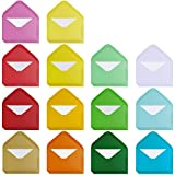 Supla 140 Sets Colorful Mini Envelopes with White Blank Business Cards Note Cards 14 Colors Small Gift Card Tiny Envelopes Pocket Envelopes Bulk 4' x 2.7' Love Notes