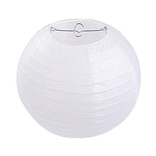 10 Stücke Papierlaterne Laterne Deko Feier Lampions Papierlampen 10