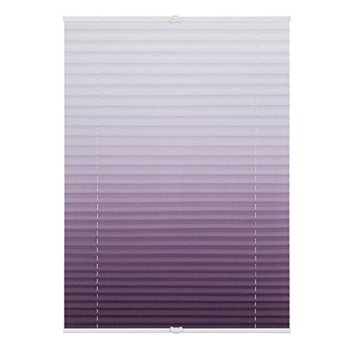 Lichtblick Plissee Klemmfix ohne Bohren, 90 cm x 130 cm (B x L) in Taupe mit Farbverlauf, Sicht- und Sonnenschutz, lichtdurchlässig & Blickdicht