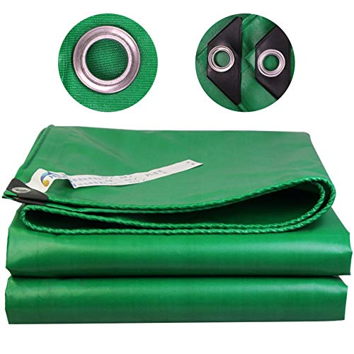 Tarpaulin Heavy Duty Tarp Reinforced Eyelets Thick, PE Waterproof Green Tarp Sheet Premium Quality Cover Tarp for Outdoor Camping (Size : 4X8m)
