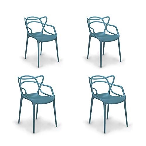 Sedia moderna Da pranzo Stile Moderno design intrecciata Comoda patica (Ottanio, 4)