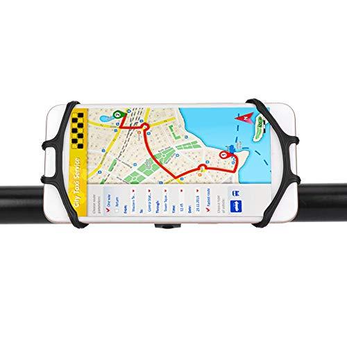 Qinyayoa Soporte para teléfono móvil para Motocicleta, rotación de 360 Grados Que Absorbe Todas Las Vibraciones Soporte para Manillar de Bicicleta para Bicicleta y Motocicleta