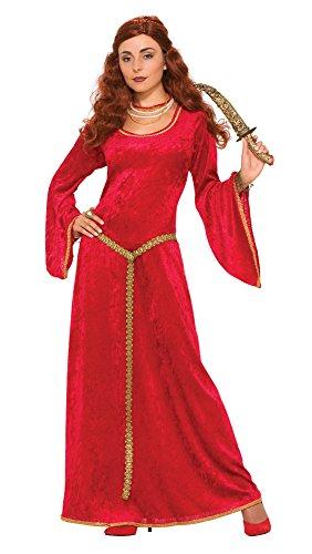 Bristol Novelty- Vestido de hechicera rubí Medieval, Color Rosso, Talla 10-14 (72835-6-standard)