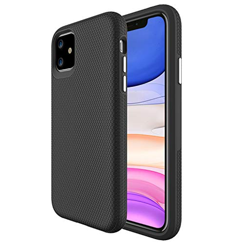 Molzar Shield Series iPhone 11 Case, Built-in Metal Plate, Magnetic Phone Mount Included, Wireless Charging Support, Compatible with Apple iPhone 11(6.1'), Black