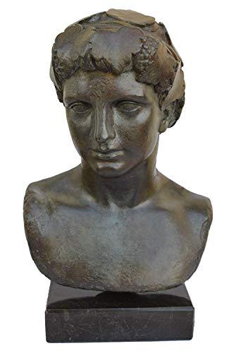 Dionysos Büste, Bronze Farbe Effekt–Dionysos Gott der Wein–Antiken Griechenland