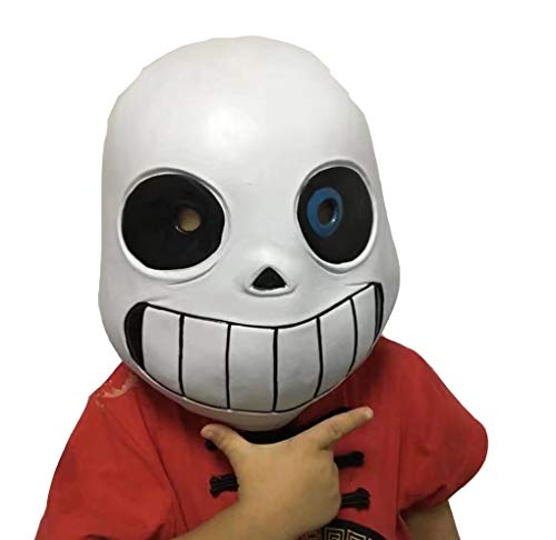 Jonikow Game Undertale Sans Mask Cosplay Halloween Party Head Hood Masque Costume (Adult, Mask)