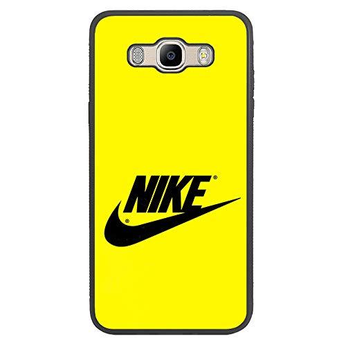 afrostore Funda Carcasa de móvil para Samsung Galaxy j7 (2016) Logotipo Nike Logo TPU Borde Negro