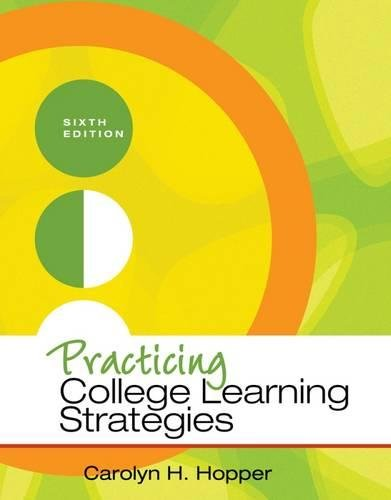 Practicing College Learning Strategies (Textbook-specific...