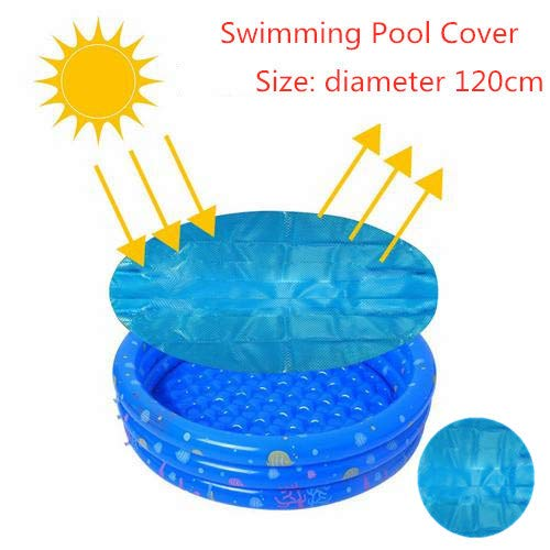 RecoverLOVE Schwimmbadabdeckung | 120cm Easy Set Oberirdisches Schwimmbecken Runde Abdeckung Plane | Easy Set Solarabdeckung für Schwimmbad | Pool Mate