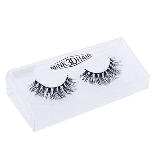 Babysbreath 1 Paire Faux Cils 3D Mink Hair Extension Naturelle Long Soft Voluminous Handmade Messy Thick Black Fake Makeup Eye Lashes
