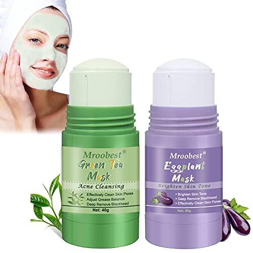 Green Stick Mask, Grüner Tee Maske, Green Tea Stick Mask, zur Verbesserung der Mattheit des Gesichts, Aufhellung des Hauttons, tiefes Entfernen von Mitessern