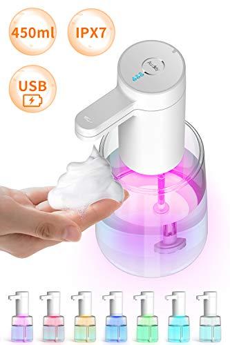 Auckly dispensador jabon Cocina dispensador de jabon baño .dispensar Espuma automáticamente Equipado con Sensor infrarrojo sin Contacto