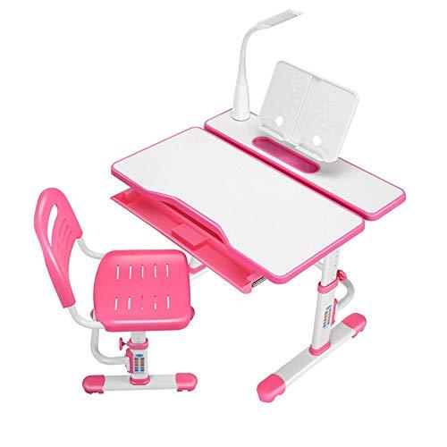 Liuxiaomiao Kindertafels en stoelen bureaustoel set multifunctionele kinderen studentafel en stoel set School Student Bureau Boekenstandaard hoogte instelbaar