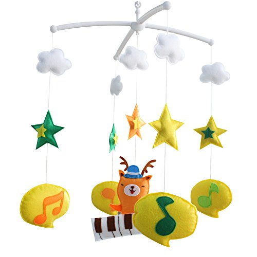 Décoration de pépinière de cadeau de jouet mobile de lit de bébé fait main pour 0-2 ans, MQ47