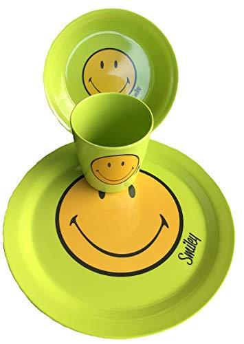 Zak Designs - Juego de 3 platos de melamina, color verde