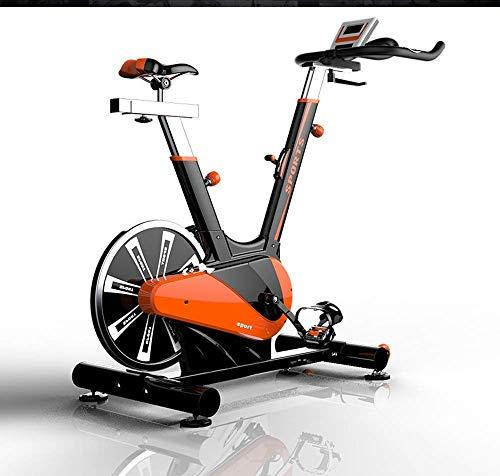 HJRBM Cyclette, Rilevamento Intelligente della frequenza cardiaca Home Gym Indoor Spinning Bike, Attrezzatura Sportiva Professionale per Interni con volano Grande, Cyclette Ultra-silenziosa