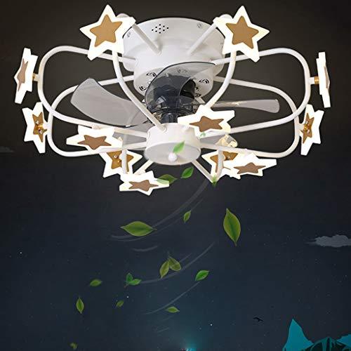 Lámpara de techo con ventilador ventilador de techo para habitación de niños ventilador de techo con iluminación ventilador con control remoto con estrellas lámpara de ventilador candelabro