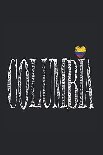 coeur Columbia -Colombia: Din A5 bloc de notas British Colombia corazón del regalo con 120 páginas