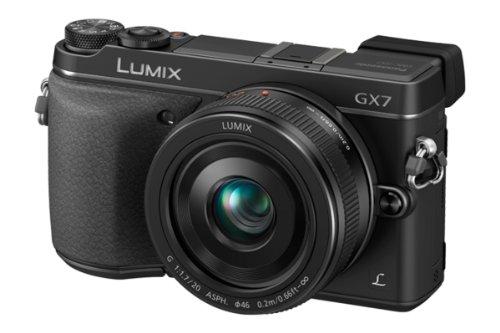 Panasonic lumix gx7 16. 0 mp dslm camera with lumix g 20mm f1. 7 ii asph...