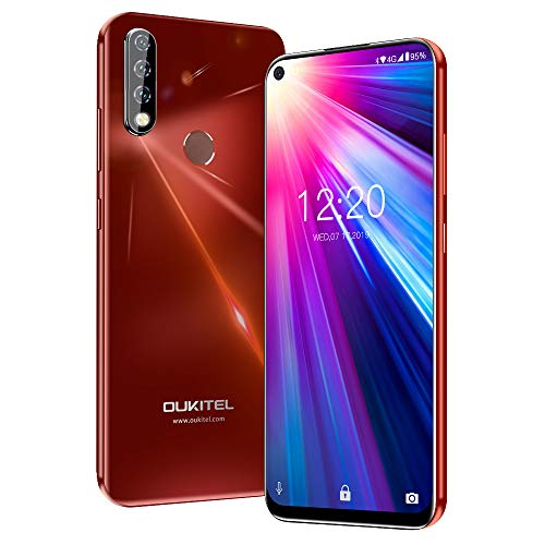 Unlocked Cell Phone, OUKITEL C17 Pro 64GB+4GB Unlocked Phones 13+5MP Triple-Lens Camera Unlocked Smartphone 6.35 inch Blind Hole Display Mobile Phone MT6763 CPU -Sunrise