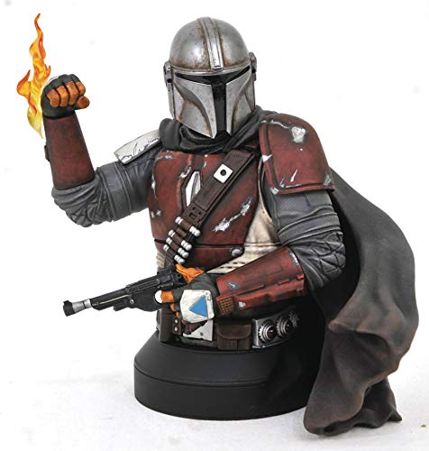 Gentle Giant Star Wars The Mandalorian MK1 1:6 Scale Mini-Bust, Multicolor image