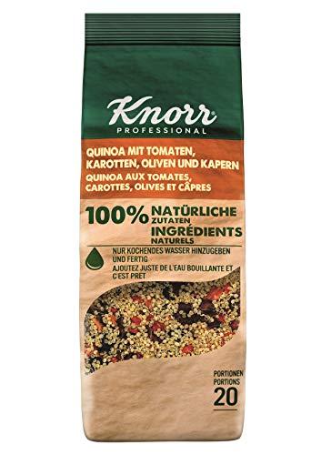 Knorr Quinoa mit Tomate, Karotten, Oliven und Kapern 100 Prozent natürliche Zutaten, 1er Pack (1 x 548 g)