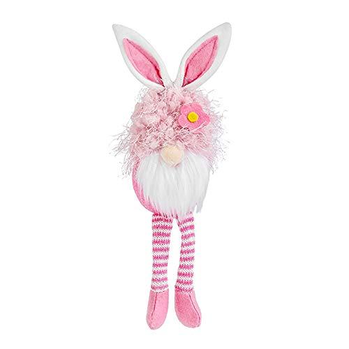 Decoración de tarro de caramelos con forma de conejo de Pascua con forma de conejo, lindos adornos de conejo, decoraciones de Pascua, regalo