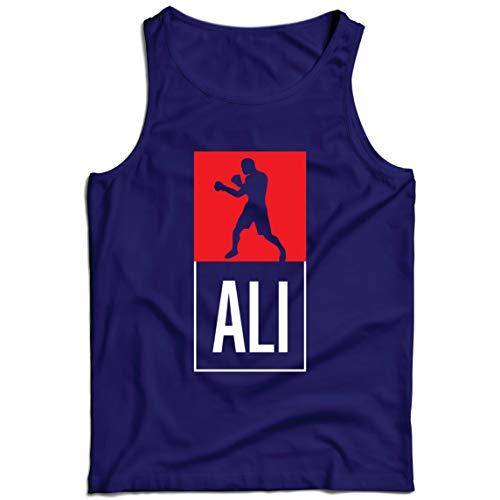 lepni.me Camisetas de Tirantes para Hombre Equipo de Entrenamiento Combate De Boxeo Ropa de Ejercicio y Fitness (Large Azul Multicolor)