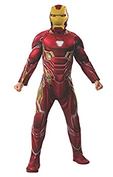 Rubie s Adult Costume and Mask Marvel Avengers  Endgame Deluxe Iron Man  Mark 50  Mask Adult Sized Costumes As Shown Standard US