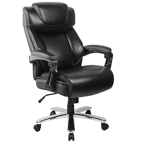 Flash Furniture HERCULES Series Big & Tall 500 lb. Rated Black LeatherSoft...