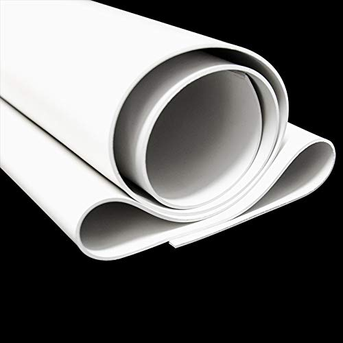 ROLLO DE HULE NEOPRENO Blanco paquete con 1 pieza de 50cm x 100cm x 1/8' de grosor ( 50cm x 100cm x 0.32cm), protector antideslizante...