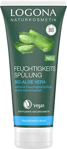 LOGONA Naturkosmetik Feuchtigkeits-Spülung Bio-Aloe Vera, Natürlicher Conditioner für trockenes Haar, Intensive Feuchtigkeit für weiche Haare, Verbesserte Kämmbarkeit, Vegan & silikonfrei, 200ml