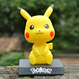 Sonwaohand Pikachu Pokémon Mascota Duende Pokemon Shake Cabeza Juguete De La Muñeca De Coche Decoración del Coche Dentro De La Joyería 10cm 4