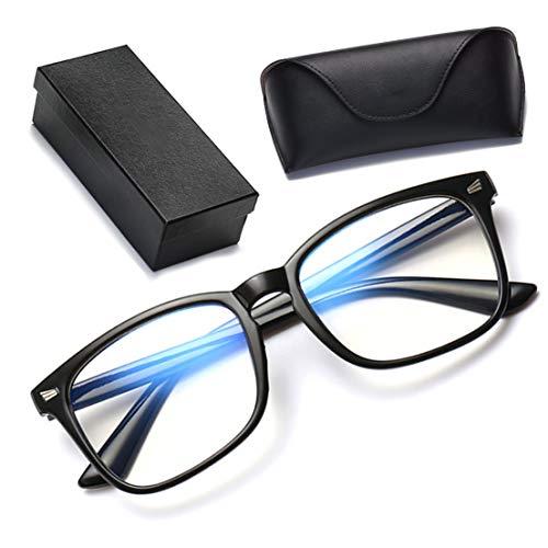 ブルーライトカットメガネ ブルーライトカット ブルーライト pcメガネ パソコン用 PCめがね 紫外線カット 男女兼用 (ブラック)