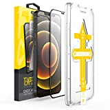 Best Shatterproof iPhone 12 & iPhone 12 Pro 6.1' 2 Clear Full Cover Tempered Glass Screen Protectors with an Easy App Installation Kit. [2 Pack]